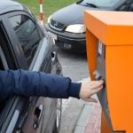 Pobanie biletu parkingowego (przy szlabanie wjazdowym)